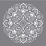 Rayher 38969000 Schablone Mandala, 30,5 x 30,5 cm, Polyester, SB-Btl 1 Stück, Motivgröße ca. 26,5 cm, mehrfach wiederverwendbar