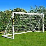 FORZA Fußballtore mit einem Klicksystem – das Tor kann das ganze Jahr über bei jedem Wetter draußen Lassen Stehen (2,4m x 1,8m)