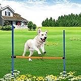 Pssopp Hunden Hindernis Agility Ausrüstung Set Hundesport Training Reifen Hürde Set Einstellbare Hundesprungstange Tragbares Agility Trainingsgerät für Hunde