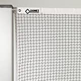 DONET Badminton-Trainingsnetz, Nylon 1,2 mm stark, schwarz