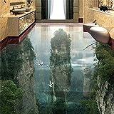 Wapel Tapete Tragen Dicker Pvc Wand Aufkleber Welt Fairyland Peak Cliff Wohnzimmer Badezimmer 3D Bodenfliesen Malerei 300Cmx210Cm