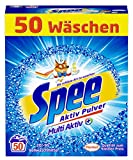 Spee Aktiv Pulver, Vollwaschmittel, 50 Waschladungen mit mehr Frische-Gefühl