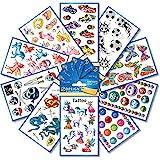 AVERY Zweckform 59993 123 Tattoos für Kinder (Tattoo Set Jungen und Mädchen, temporär, wasserfest, Klebetattoos, Kindergeburtstag, Mitgebsel, Partyspiele, Kinder zum Spielen, Kinder Geschenk)