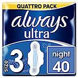 Always Ultra Night Damenbinden, 40Stück