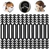 TWSTYFAL 12PCS Mask Extender, Maskenhaken Anti-Tightening Ear Protector Dekompressionshalter Haken Ohrriemen Zubehör Ohrverlängerungsmaske Schnalle Ohrenschmerzen gelindert (schwarz)