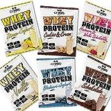 Whey Protein Isolat - 500g, 2000g, 4000g, 8000g Beutel C.P. Sports, Eiweißpulver in 16 leckeren Geschmacksrichtungen + kostenlosem Eiweißshaker (Testpaket, 6 x 25g Testbeutel)