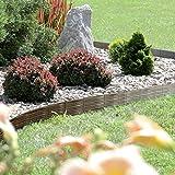 Rasenkante Gartenpalisade Beeteinfassung Beetumrandung 3,9m Weidenzaun-Optik von rg-vertrieb (Braun)