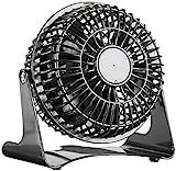 Sichler Haushaltsgeräte Kleiner Tischventilator: Kompakter Tisch-Ventilator VT-111.T, 14 Watt, Ø 11 cm (Tischlüfter)
