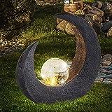 LED Mondsichel Solar Lampe Garten Steh Boden Beleuchtung Glas Kugel Leuchte Veranda Weg Terrasse Einfahrt