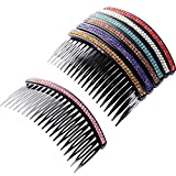 7 Stück Haarkamm 20 Zähne Strass Kamm Pin Clip Hake Braut Haarkämme Zubehör für Frauen Mädchen, Sortierte Farben