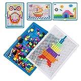 Kesote Steckspielzeug Mosaik Steckspiel Kinder Lernspielzeug Pädagogisch Spielzeug für Junge Mädchen Geschenk (ca. 300 Stück)