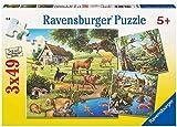 Ravensburger Kinderpuzzle 09265 - Wald-/Zoo-/Haustiere - 3 x 49 Teile