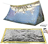Semptec Urban Survival Technology Notzelt: Survival-Set mit Notfall-Zelt und Folien-Schlafsack (Rettungssack)
