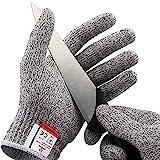 NoCry Schnittfeste Handschuhe – Leistungsfähiger Level 5 Schutz, lebensmittelecht. Größe : Small, 1 Paar