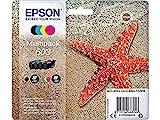 Epson Original 603 Tinte Seestern, WF-2830DWF WF-2835DWF WF-2850DWF XP-2100 XP-2105 XP-3100 XP-3105 XP-4100 XP-4105, Amazon Dash Replenishment-fähig (Multipack 4-farbig) Normalverpackung, Standard