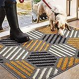 Color&Geometry Fußmatte innen 80x120 cm, rutschfeste Schmutzfangmatte Waschbar Türmatte groß Sauberlaufmatte für Eingangsbereich, Haustür, innen und außen(grau)