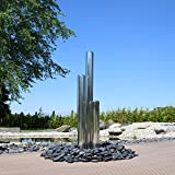 CLGarden Edelstahl Element für Säulenbrunnen Gartenbrunnen Springbrunnen DIY 3 Säulen aus aufwendig poliertem Edelstahl rostfrei