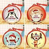 O-Kinee Weihnachten Geschenkbox, 4 Stück Kleine Metalldose Geschenkdosen Weihnachtsdose Keksschachtel Pralinenschachtel für Weihnachten Geschenk Weihnachtsdeko Weihnachtsbaum Dekoration (Bunt)