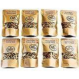 Crunchy Queen handgemachtes Knusper-Müsli Probierpaket, 8 x 80 g, Müsli ohne Zusatz von raffiniertem Zucker