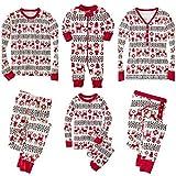 SERAPHY WOOKIT Christmas Pyjamas Weihnachten Familien-Set Ferien Passende Paare Kinder 2 Stück Warme Kleidung Nachtwäsche-Men-XL