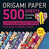 Origami Paper 500 sheets Chiyogami Designs 6 inch 15cm: High-Quality Origami Sheets Printed with 12 Different Designs (Origami Paper Pack)