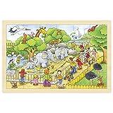Goki 57808 - Einlegepuzzle - Zoobesuch