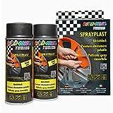 Dupli-Color 388101 DC Sprayplast-Set, 2 x 400 ml, Schwarz Matt