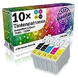 NTT 10 Stück XL Tintenpatronen als Ersatz für Epson Stylus T1295 4 x T1291, 2X T1292, 2X T1293, 2X T1294