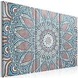 murando - Bilder Mandala 120x80 cm Vlies Leinwandbild 3 Teilig Kunstdruck modern Wandbilder XXL Wanddekoration Design Wand Bild - Ornament f-A-0670-b-e