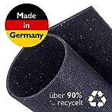 Zuschneidbare Antivibrationsmatte für Waschmaschinen, Trockner u.v.m. | Größe 40cmx40cmx6mm | Auch als Antirutschmatte, Waschmaschinenunterlage & Schalldämmung geeignet | MADE IN GERMANY
