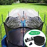 CT Trampolin Sprinkler Spielzeug für Kinder Trampolin Spray Wasserpark Spaß Sommer Outdoor Wasserspiel Spielzeug Trampolin Zubehör, zum Anbringen am Trampolin Sicherheitsnetz Gehäuse (15m)