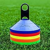 FORZA Markierungshütchen (50 Stück) – Multi-Sportarten Training Markierungsteller und Halter (Orange/Gelb)