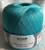 Häkelgarn 100 Gründl Wolle Baumwolle 100 g Farbe 139 - Türkis