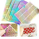 60 Stücke Nagel Vinyl Schablonen Aufkleber Set, 5 Blätter 72 Verschiedenes Design Nette Einfache Nagelkunst Nagel Vinyl Nagel Schablonen Blätter