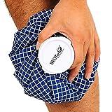 Neotech Care - Eisbeutel für Verletzungen, Schwellungen, Kopfschmerzen, Schmerzlinderung, Erste Hilfe - Kühlbeutel mit Schraubdeckel - wiederverwendbarer, nachfüllbarer Beutel - Blau - 12 cm