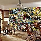 Marvel Comics 3D-Tapete Captain America Fototapete für Kinderzimmer, Jungen, Büro, Shop, Kunstzimmer, Dekoration