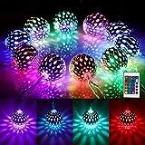 4M Kugel LED Lichterkette Innen USB, Marokkanische Kugeln Orientalisch Lichterkette Außen, 40er LED 16 Farben Lichterketten für Zimmer Dekor, Farbwechsel Fairy Lights für Balkon, Garten Ramadan Deko