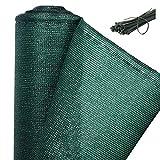 WOLTU GZZ1180m2 Zaunblende Tennisblende Schattiernetz Sichtschutz Windschutz Staubschutz Sonnenschutz Gewebe Netz mit Kabelbinder, grün, 1x10m