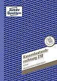 AVERY Zweckform 318 Kassenbestandsrechnung (A5, von Rechtsexperten geprüft, für Deutschland und Österreich zur ordnungsgemäßen, kostengünstigen Buchführung, 50 Blatt) weiß