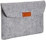 AmazonBasics Laptop-Tasche, Filz, für Displaygrößen bis 11 Zoll , Hellgrau