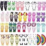 FLZONE Packung mit 40 Snap Tier Haarspangen,Mädchen Haarklammern,Mädchen haarclips set- Hübsches, niedliches Schönheits-Haarzubehör - ideal für Mädchen jeden Alters