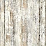 Holz Klebefolie Möbelfolie Holzoptik Aufkleber für Möbel Küche Dchrank Bekleben Wand Vinyl Folie Selbstklebend Nostalgischer Stil 45X200cm