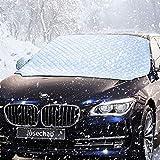 IREGRO Frontscheibenabdeckung Auto Scheibenabdeckung 158x120cm Magnet Fixierung Faltbare Windschutzscheibe Auto Abdeckung, Perfekte Gegen Schnee, EIS, Frost, Staub, Sonne, UV