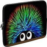 Sidorenko Laptop Tasche für 17-17,3 Zoll | Universal Notebooktasche Schutzhülle | Laptoptasche aus Neopren, PC Computer Hülle Sleeve Case Etui, Grün/Schwarz