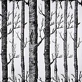 Hode Selbstklebend Tapete Dekorfolie Klebefolie für Möbel Wand Küche Tür Möbelfolie Vinyl Aufkleber Wasserdicht Geäst Wald 45 * 300cm