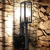 s.LUCE Fackel Aussen-Wandleuchte Chalet 55cm Garten Aussen-Wandleuchte Wand-Fackel Schwarz Fassaden-Lampe Fassaden-Leuchte Fackel