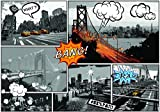 DekoShop Fototapete Comic-Städte Wandtapete - P8 (368cm. x 254cm.) Moderne Wanddeko Design Tapete AMD10676P8 Stadt/städtisch Wohnzimmer Schlafzimmer