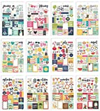 Simple Stories 7974 Planer Essentials Aufkleber, mehrfarbig, Größe A5, 12 Stück