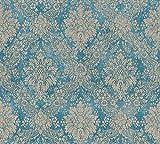 A.S. Création Vliestapete Secret Garden Tapete neo-barock 10,05 m x 0,53 m blau braun metallic Made in Germany 336075 33607-5