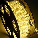 DREAMADE Lichterschlauch Lichtschlauch Lichterkette LED-Lichtschlauch 20M Länge 720 LEDs 50000h Farbewahl PVC Isolierung (Warmweiß)
